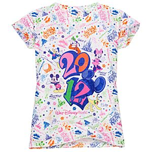 Glitter 2012 Walt Disney World Tee for Girls