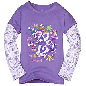 Double-Up Long Sleeve 2012 Disneyland Tee for Girls