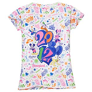 Glitter 2012 Disneyland Tee for Girls