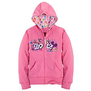 Zip Fleece 2012 Disneyland Hoodie for Girls