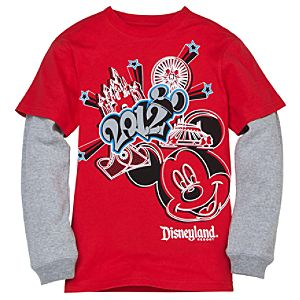 Double-Up Long Sleeve 2012 Disneyland Tee for Boys