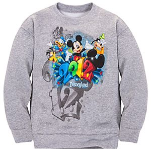 Long Sleeve 2012 Disneyland Resort Fleece Sweatshirt for Boys