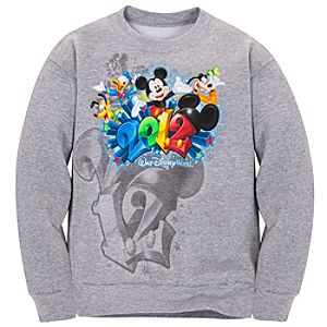 Long Sleeve 2012 Walt Disney World Resort Fleece Sweatshirt for Boys