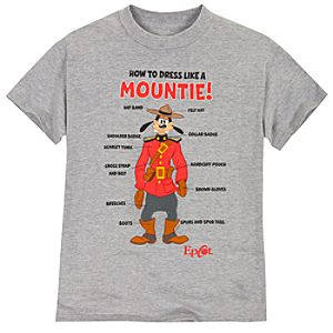 Epcot World Showcase Canada Pavilion How to Dress Like a Mountie! Goofy Tee for Adults
