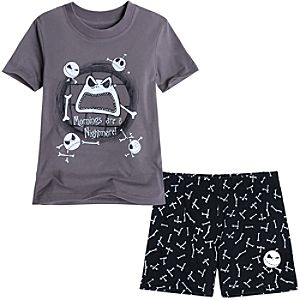 Jack Skellington Short Pajama Set for Boys