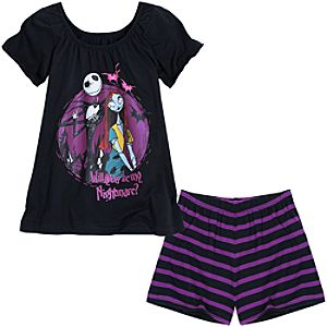 The Nightmare Before Christmas Short Set for Girls