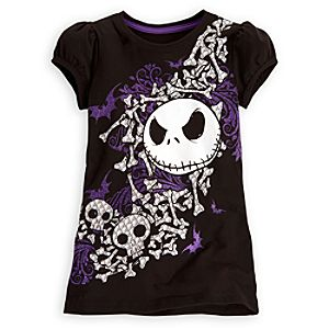 Puff Sleeve Jack Skellington Tee for Girls