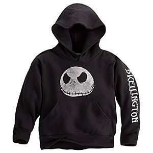 Fleece Pullover Jack Skellington Hoodie for Kids