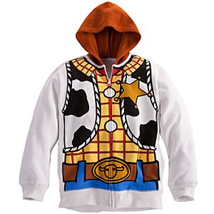 Costume Woody Fleece Hoodie for Boys