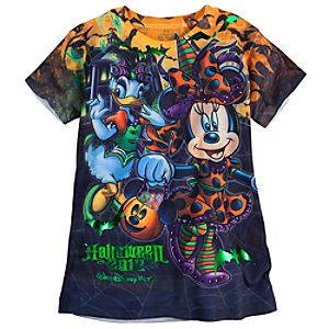All-Over Walt Disney World Halloween Minnie Mouse Tee for Girls