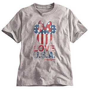Limited Availability Walt Disney World U.S.A. Flag Minnie Mouse Tee for Girls