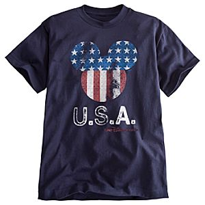 Limited Availability Walt Disney World U.S.A. Flag Mickey Mouse Tee for Boys