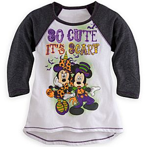 Minnie and Mickey Mouse Raglan Tee for Kids