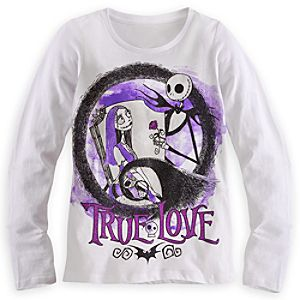 Nightmare Before Christmas Long Sleeve Tee for Girls