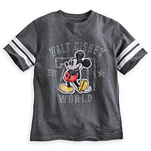 Mickey Mouse Gray Football Tee - Walt Disney World