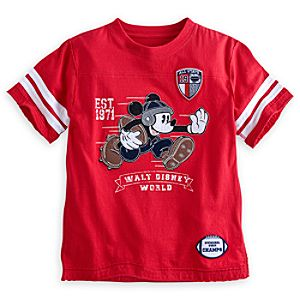Mickey Mouse Red Football Tee - Walt Disney World
