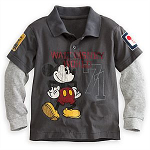 Mickey Mouse Double-Up Polo Shirt for Boys - Walt Disney World