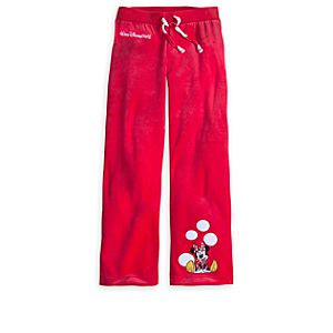 Minnie Mouse Velour Pants for Girls - Walt Disney World