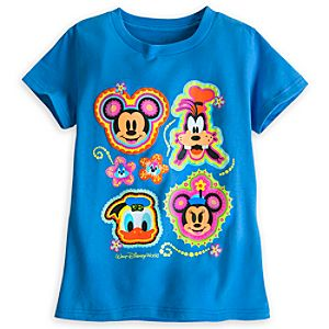 Mickey Mouse and Friends Tee for Girls - Blue - Walt Disney World