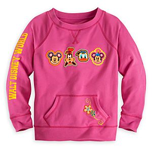 Mickey Mouse and Friends Sweatshirt for Girls Walt Disney World - Pink