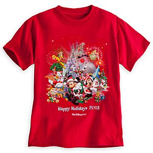 Santa Mickey Mouse and Friends Tee for Boys - Walt Disney World 2013