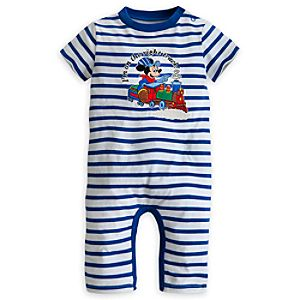Mickey Mouse Striped Coverall for Boys