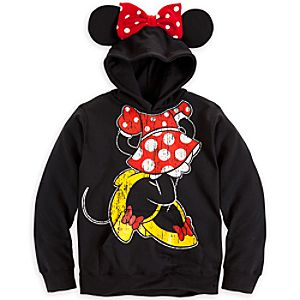 Minnie Mouse Ear Hoodie for Girls