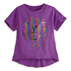 Sorcerer Mickey Mouse and Friends Foil Tee for Girls - Walt Disney World 2014