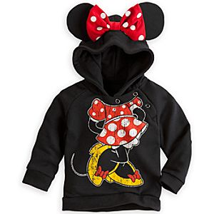 Minnie Mouse Ear Hoodie for Baby