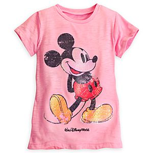 Mickey Mouse Sequined Tee for Girls - Walt Disney World