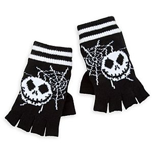 Jack Skellington Knit Gloves for Adults