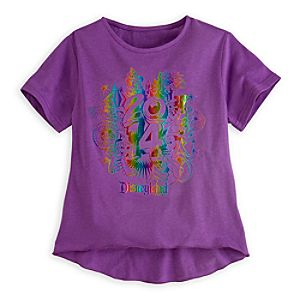 Sorcerer Mickey Mouse and Friends Foil Tee for Girls - Disneyland 2014