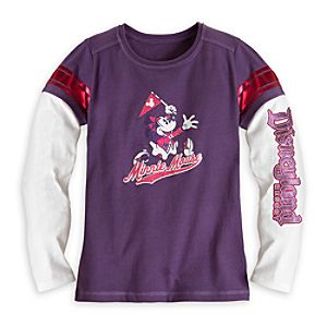 Minnie Mouse Double-Up Tee for Girls - Disneyland