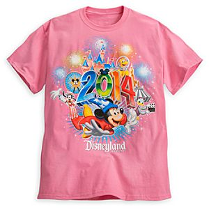 Sorcerer Mickey Mouse and Friends Tee for Adults - Disneyland 2014 - Pink