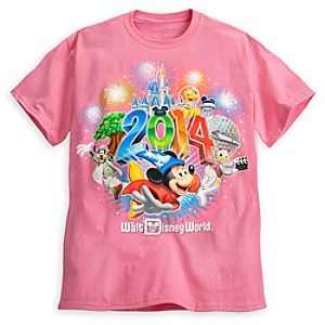 Sorcerer Mickey Mouse and Friends Tee for Adults - Walt Disney World 2014 - Pink