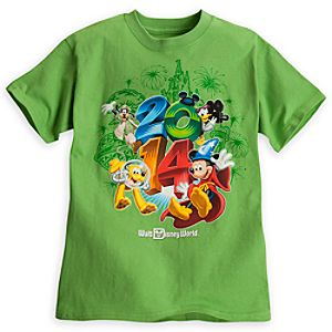 Sorcerer Mickey Mouse and Friends Tee for Boys - Walt Disney World 2014 - Lime