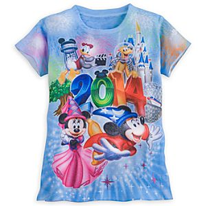 Sorcerer Mickey Mouse and Friends Tee for Girls - Walt Disney World 2014 - Blue