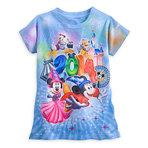 Sorcerer Mickey Mouse and Friends Tee for Girls - Disneyland 2014 - Blue