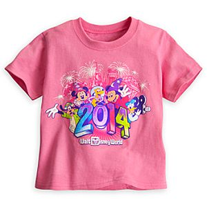 Sorcerer Mickey Mouse and Friends Tee for Toddler Girls - Walt Disney World 2014 - Pink