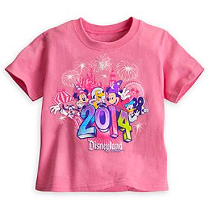 Sorcerer Mickey Mouse and Friends Tee for Toddler Girls - Disneyland 2014 - Pink