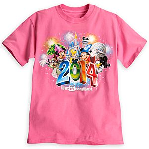 Sorcerer Mickey Mouse and Friends Tee for Girls - Walt Disney World 2014 - Pink