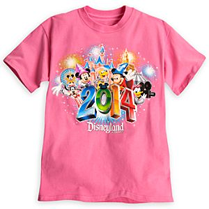 Sorcerer Mickey Mouse and Friends Tee for Girls - Disneyland 2014 - Pink