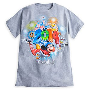 Sorcerer Mickey Mouse and Friends Tee for Adults - Disneyland 2014 - Gray