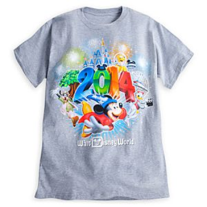 Sorcerer Mickey Mouse and Friends Tee for Adults - Walt Disney World 2014 - Gray
