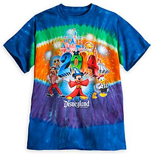Sorcerer Mickey Mouse and Friends Tie-Dye Tee for Adults - Disneyland 2014