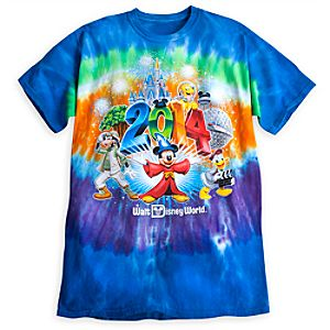Sorcerer Mickey Mouse and Friends Tee for Adults - Walt Disney World 2014 - Tie-Dye