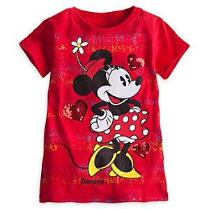 Minnie Mouse Tee for Girls - Disneyland