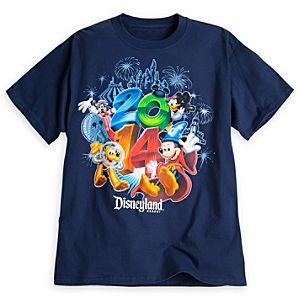 Sorcerer Mickey Mouse and Friends Tee for Adults - Disneyland 2014 - Navy