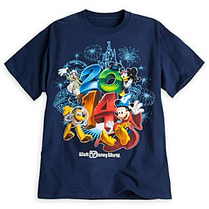 Sorcerer Mickey Mouse and Friends Tee for Adults - Walt Disney World 2014 - Navy