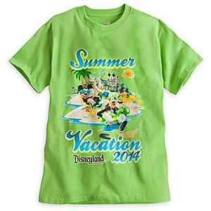 Mickey Mouse and Friends Tee for Adults - Summer Vacation 2014 - Disneyland